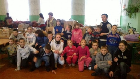 Who is answering for the disabled children left in the conflict zone in eastern Ukraine?