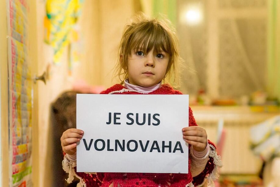Russian terrorists and militants russian armed forces russia backed militants kill 12 civilians by shelling civilian bus near a Ukrainian checkpoint in the Volnovaha area donetsk oblast January 13 2015