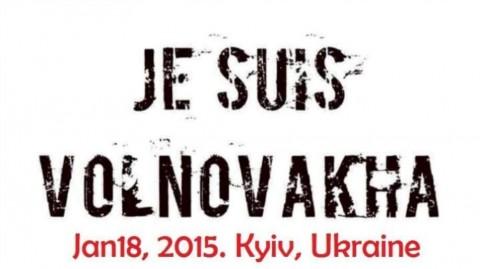 Je Suis Volnovakha: Ukrainians rally against Russia's terror across the globe