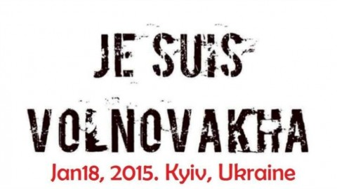 Je Suis Volnovakha: Ukrainians rally against Russia's terror across the globe