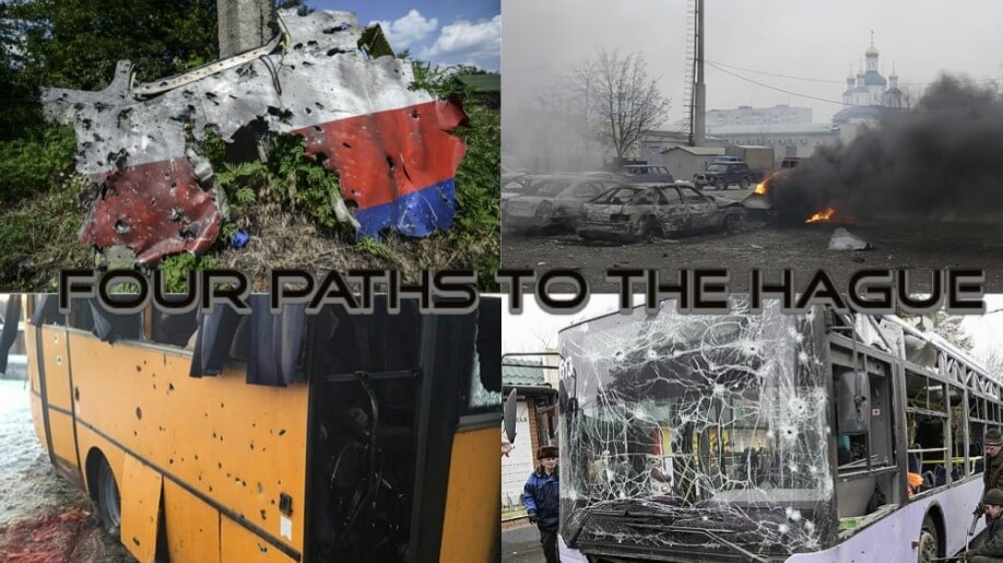 four paths to the hague for lpr and dpr terrorists mh17 shelling mariupol shelling bus volnovakha shelling bus donetsk