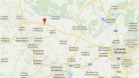 Ukrainian checkpoints in Luhansk oblast under Russian fire