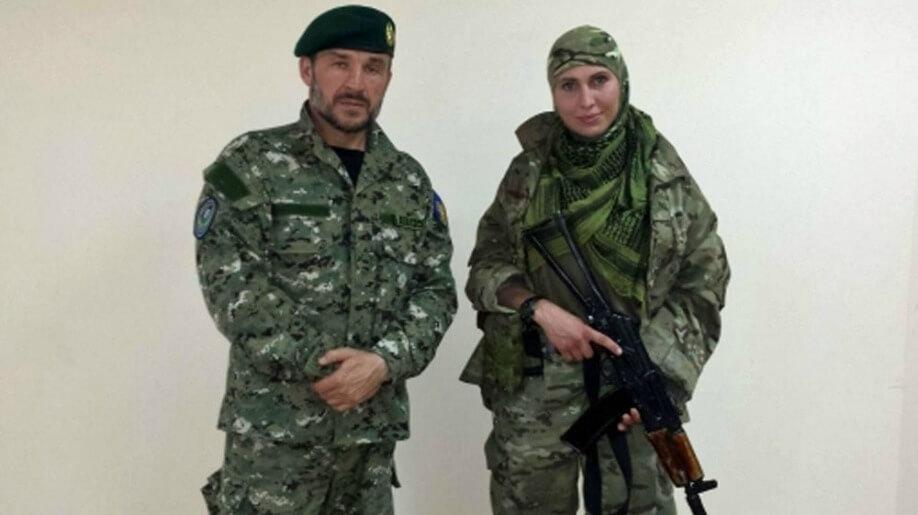 les tchétchènes se battent pour la liberté de l'ukraine
