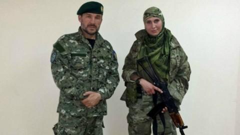 Чеченка Амина сделала выбор сражаться на стороне Украины