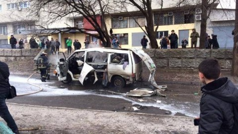 Car of Slobozhanshchina battalion commander blasted in Kharkiv