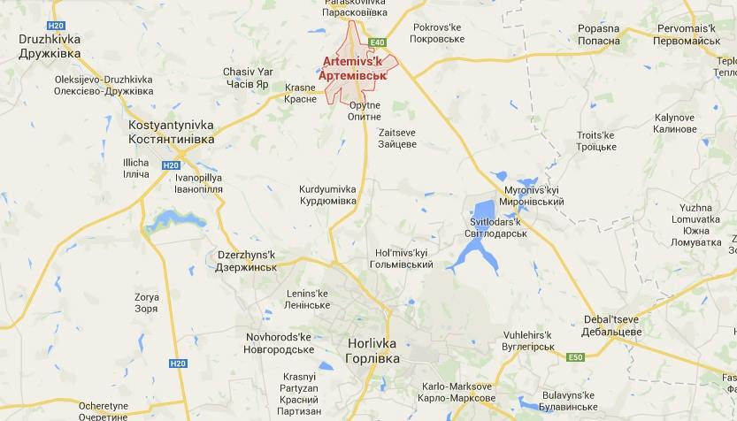 Artemivsk-map
