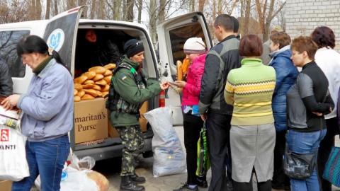 Ukrainian military deliver aid from all over Ukraine to Avdiivka near Donetsk