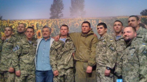 Ukrainian Cyborgs speak at the opening of photo exhibition on Donetsk airport