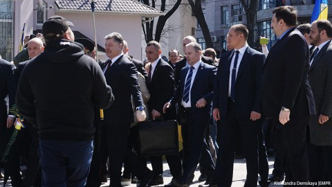 President Poroshenko arrives to Odessa, marking liberation from German-Nazi occupants