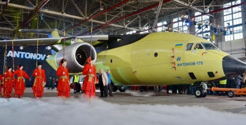 Ukraine's Antonov plant introduced new transport aircraft AN-178