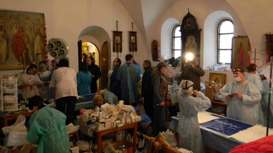 Фото - Uliana Bilous. Медичний пункт в Михайлівському Соборі, 19.02.14 р.