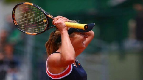 The first Grand Slam quarter-final for Ukrainian starlet