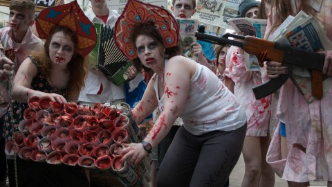 Kyiv hosts Zombie Parade to reflect pro-Russian newspaper 'Vesti'