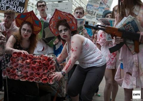 Un défilé des morts-vivants a eu lieu à Kiev