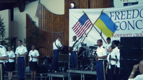 U.S. Army Europe Soldiers' Chorus performs in Kyiv ahead of 4 July