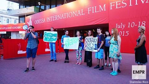 На Одесском международном кинофестивале состоялась акция в поддержу Олега Сенцова