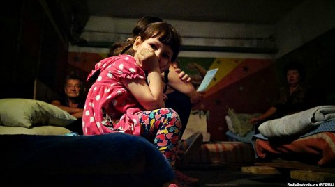 The war in Ukraine: life in a bomb shelter
