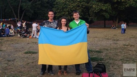 Ukrainians from all over Ukraine celebrate National Flag Day in Berlin