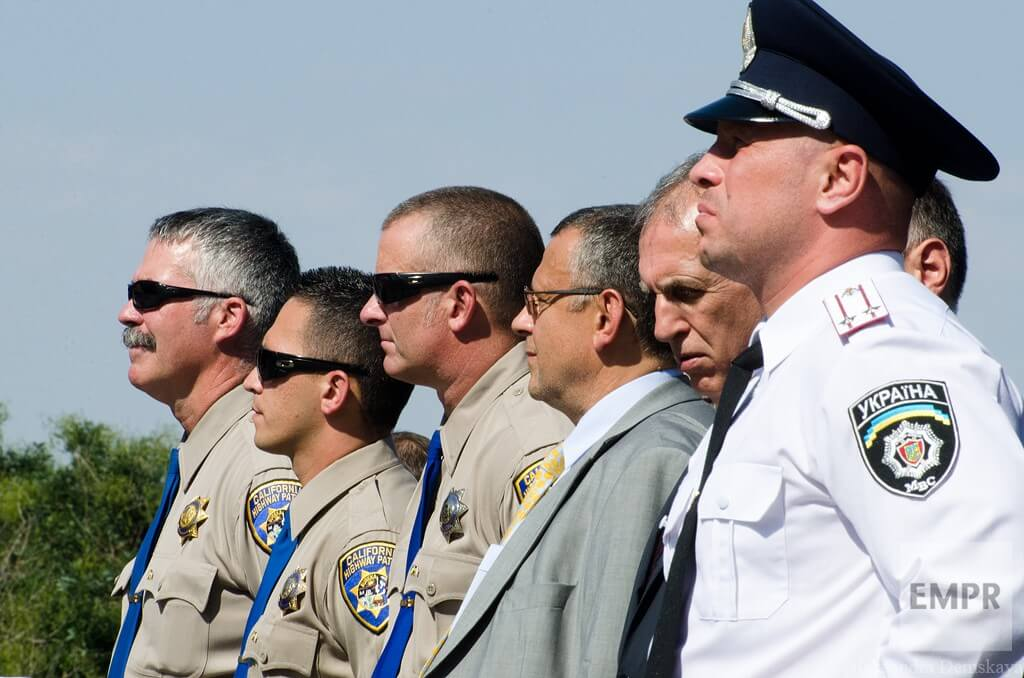 Representatives of California Highway Patrol who helped training new Odessa patrol police emphasized high motivation of new police officers: 'They really want to make improvements for their country and children'. California police officers also said they were glad they had been allowed to help in training. They noted the high level of competence, and said there was always room for improvement based on everyday experience.