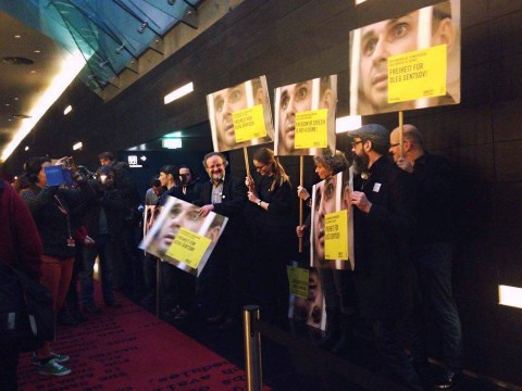 European film community demonstrates support to Oleg Sentsov