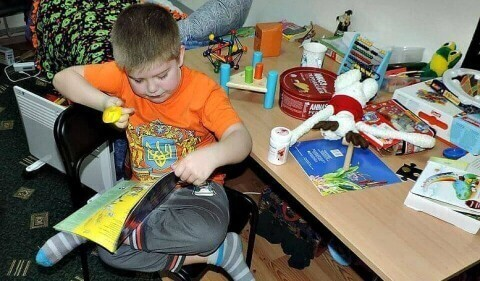 Support 7-year-old autistic boy from eastern Ukraine voluntary association supports children from eastern Ukraine in trouble and danger contribute to the development of the children affected by the war in eastern Ukraine charity fundraising