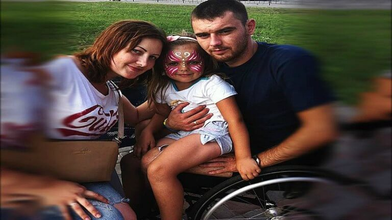 Rehabilitation is needed for Ukrainian soldier Ruslan was wounded in combats with Russian militants who occupied eastern Ukraine He got a spinal injury at scapulae level his spine is broken one lung has been removed it was damaged as well as part of the scapula