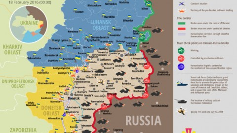 Ukraine war updates: daily briefing as of February 18, 2016