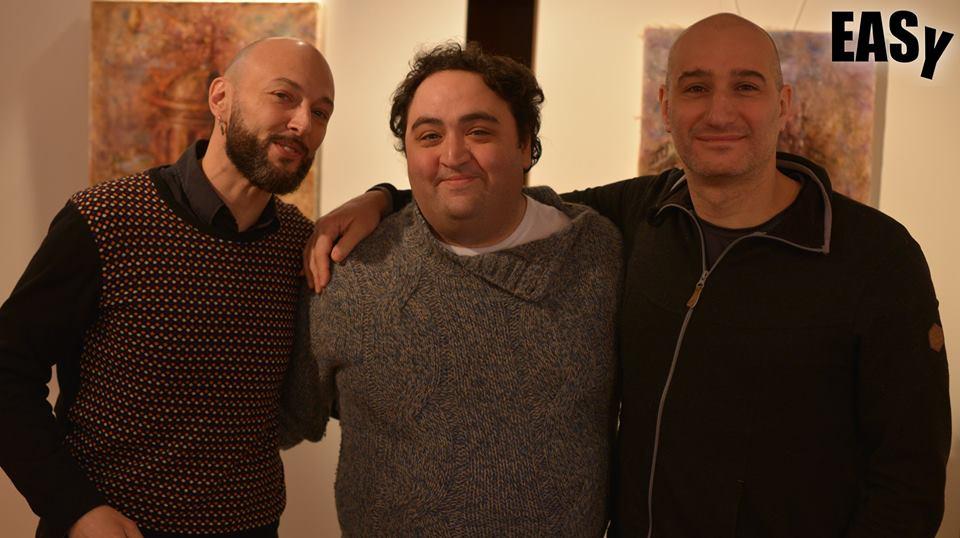 """Команда фільму """"Easy"""" (зліва направо): виконавчий продюсер Джанпаоло Сміралья, актор – виконавець головної ролі Нікола Ночелла, режисер Андреа Маньяні"""