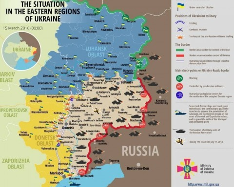 Ukraine war updates: daily briefings as of March 15, 2016