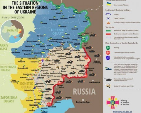 Ukraine war updates: daily briefings as of March 9, 2016