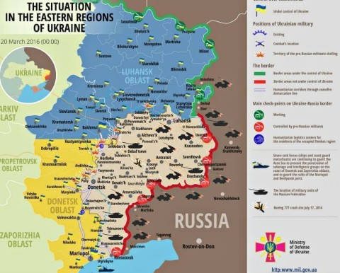 Ukraine war updates: daily briefings as of March 20, 2016