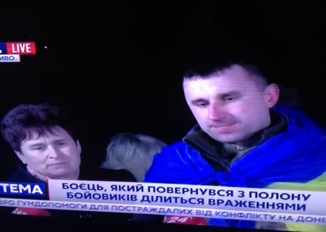 Ukrainian servicemen are back from Russian captivity Three Ukrainians were freed today in the war zone in eastern Ukraine First interview with the press gave Yaroshenko