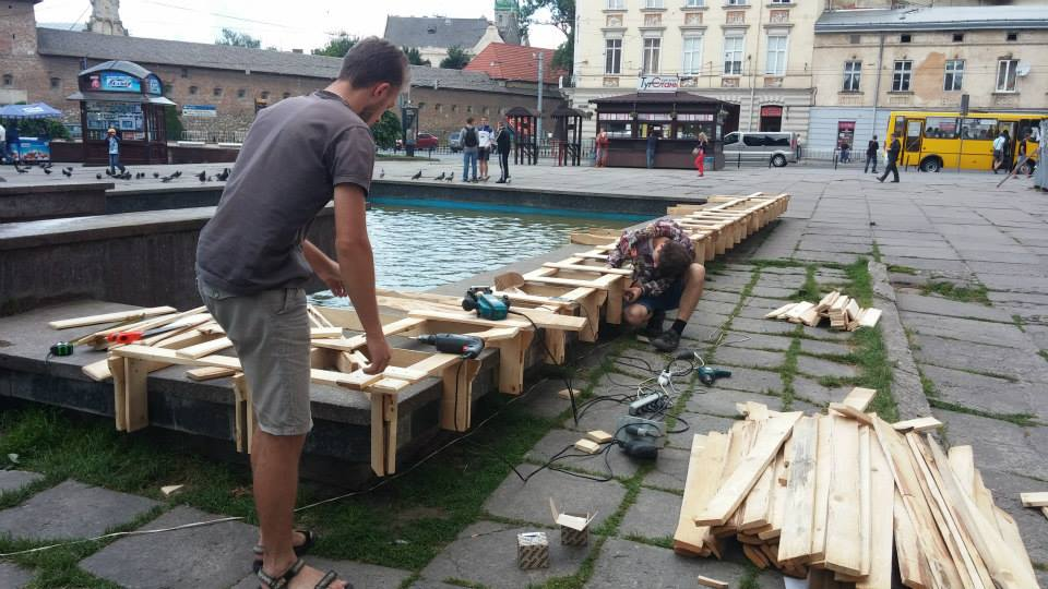 Young architects transform lviv s public space for Outer space urban design