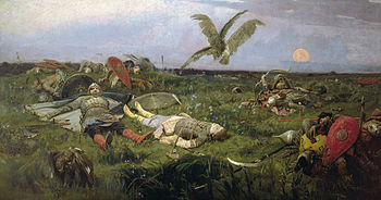 The field of Igor Svyatoslavich's battle with the Polovtsy, by Viktor Vasnetsov. Credits wikipedia.org