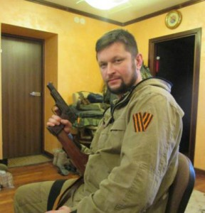 Russian MP Denis Ahromkin in eastern Ukraine, Photo Credit: Stop Terror