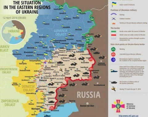 Ukraine war updates: daily briefings as of April 12, 2016