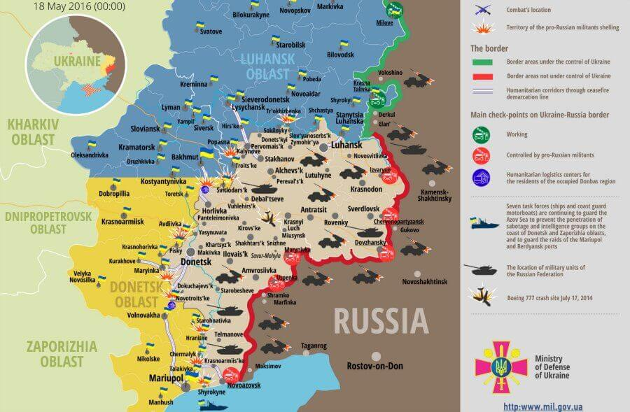 Russia - Ukraine war timeline: daily briefings as of May 18, 2016