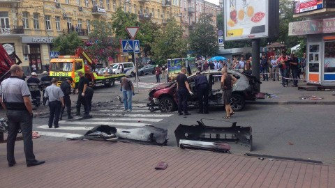 Ukrainian freedom of speech: journalist killed in a blast in the central Kyiv