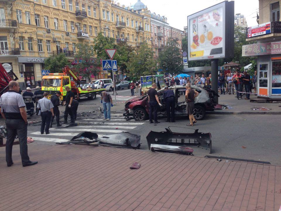 Well-known journalist Pavel Sheremet killed in a car blast in the center of Kyiv Ukraine Ukrainian freedom of speech today Pavel Sheremet's car blasted in several dozens meters from his house at the central Kyiv bomb explosion