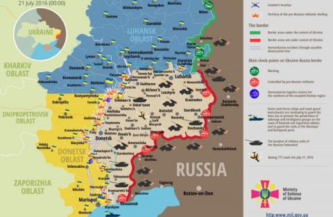 Ukraine war updates: daily briefings as of July 21, 2016