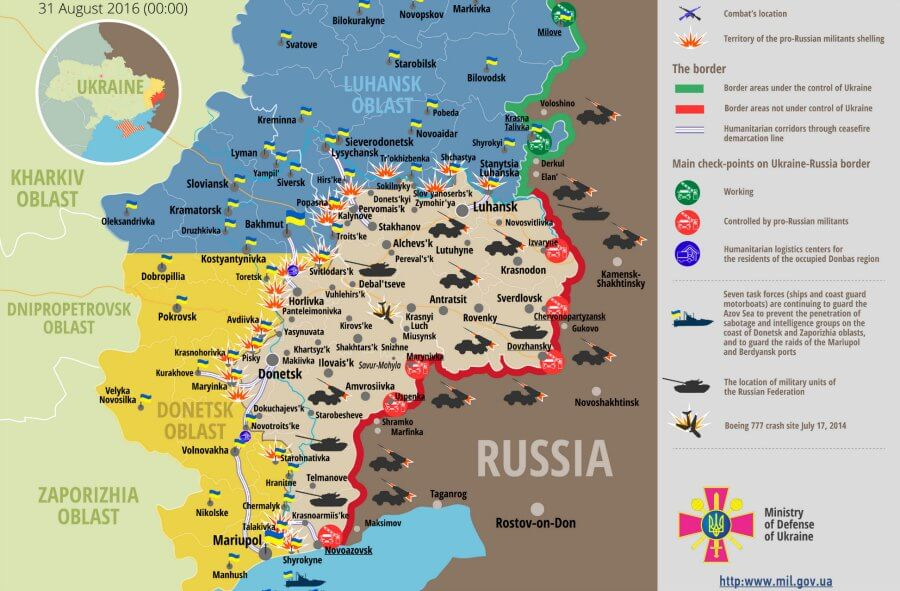 russia ukraine war updates daily brifings august 31 2016 ato hq ministry of defence latest ukraine news in english russia ukraine war news