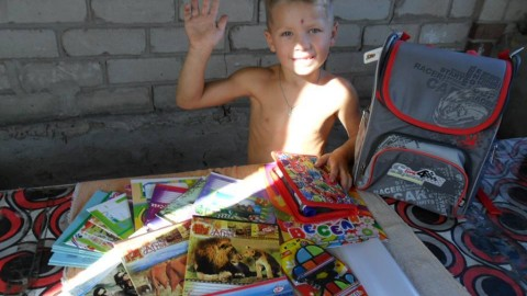 To school together! Let's support children from eastern Ukraine!