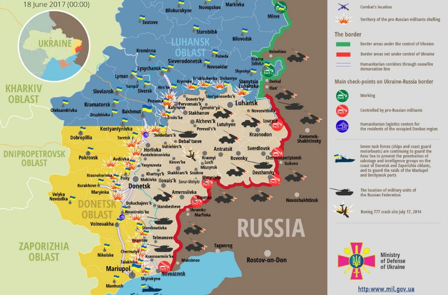 russia ukraine war update latest news english 2017 empr daily briefing highlight intervention conflict zone timeline map fighting eastern ukrainian crisis donbass summary hybrid warfare military action attack ceasefire armed forces