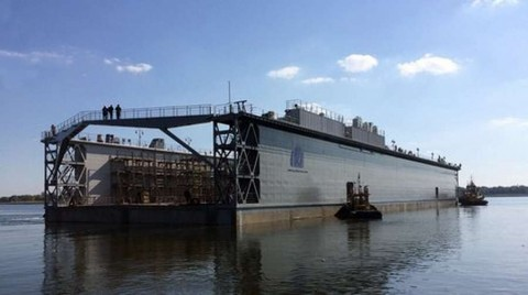 "Kherson ""Pallada"" launched the newest composite floating dock"