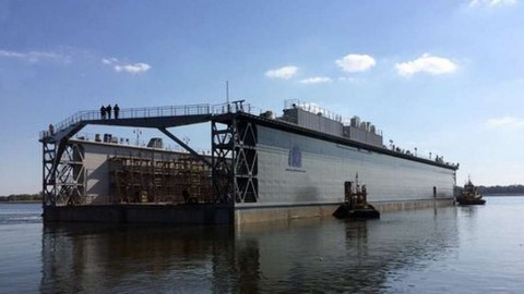 """Kherson """"Pallada"""" launched the newest composite floating dock"""