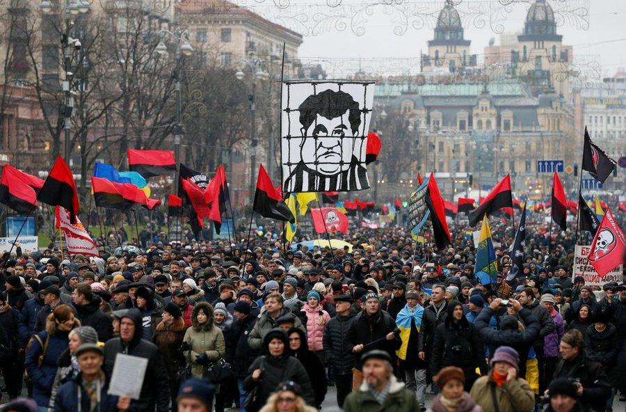 ukraine anti-government protest corruption NABU Egor Sobolev Poroshenko Saakashvili