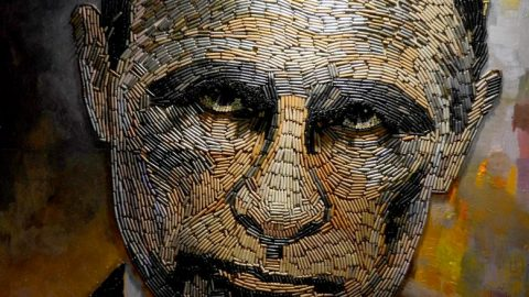Russian President Vladimir Putin made from bullet shells