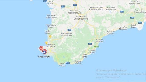 The Russian invaders overtook cape Fiolent in Crimea