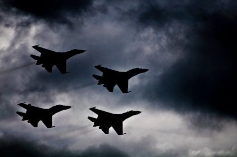 Russia has deployed about 500 tactical combat aircraft along its border with Ukraine