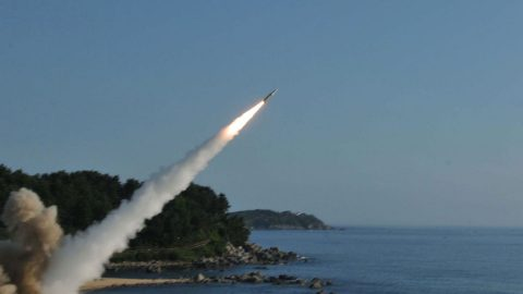 Russian navy performed missle launches at naval targets in the Black Sea